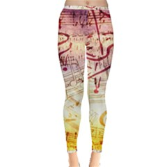 Scrapbooking Paper Music Inside Out Leggings by AnjaniArt