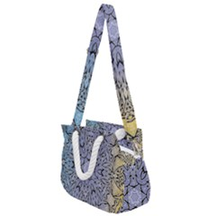 Mosaic Pattern Rope Handles Shoulder Strap Bag by Bajindul