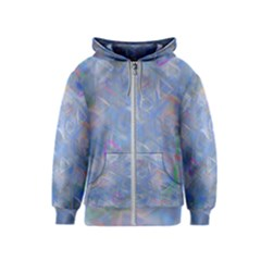 Abstract Triangles Geometric Kids  Zipper Hoodie