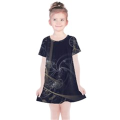 Fractal Abstract Rendering Kids  Simple Cotton Dress by Bajindul