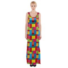 Lego Background Maxi Thigh Split Dress by HermanTelo