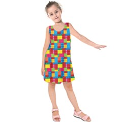 Lego Background Kids  Sleeveless Dress by HermanTelo