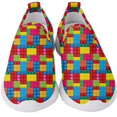 Lego Background Kids  Slip On Sneakers