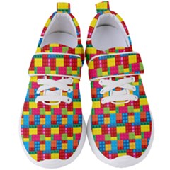Lego Background Women s Velcro Strap Shoes