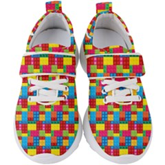 Lego Background Kids  Velcro Strap Shoes by HermanTelo