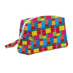 Lego Background Wristlet Pouch Bag (medium) by HermanTelo