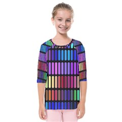 Resolve Art Pattern Kids  Quarter Sleeve Raglan Tee