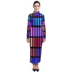 Resolve Art Pattern Turtleneck Maxi Dress