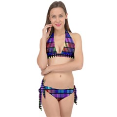 Resolve Art Pattern Tie It Up Bikini Set
