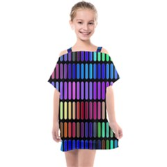 Resolve Art Pattern Kids  One Piece Chiffon Dress by HermanTelo