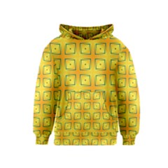Green Plaid Gold Background Kids  Pullover Hoodie