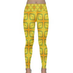 Green Plaid Gold Background Lightweight Velour Classic Yoga Leggings