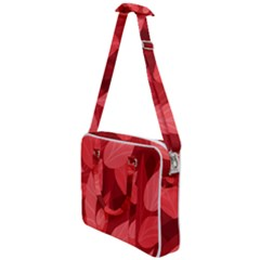 Leaf Design Leaf Background Red Cross Body Office Bag
