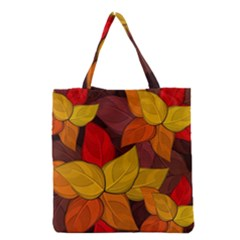 Flower Background Flower Design Grocery Tote Bag by Pakrebo