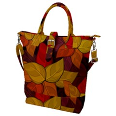 Flower Background Flower Design Buckle Top Tote Bag