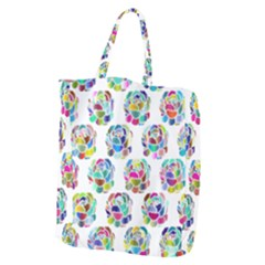 Flowers Floral Pattern Decorative Giant Grocery Tote