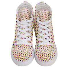 Illustration Abstract Pattern Polka Dot Men s Hi Top Skate Sneakers