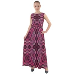 Abstract Pattern Mandala Decorative Chiffon Mesh Maxi Dress