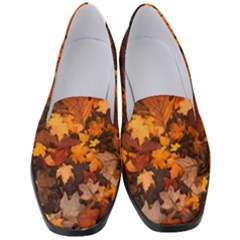 Fall Foliage Autumn Leaves October Women s Classic Loafer Heels