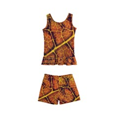 Autumn Leaves Forest Fall Color Kids  Boyleg Swimsuit