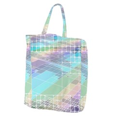 Abstract Lines Perspective Plan Giant Grocery Tote