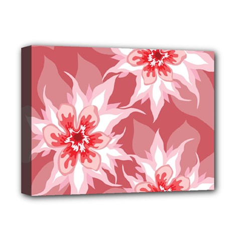 Flower Leaf Nature Flora Floral Deluxe Canvas 16  X 12  (stretched)