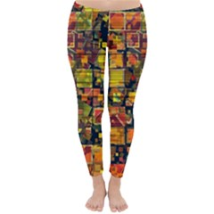 Color Abstract Artifact Pixel Classic Winter Leggings