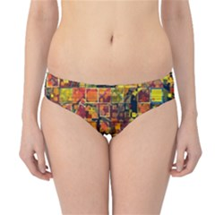 Color Abstract Artifact Pixel Hipster Bikini Bottoms