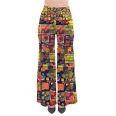 Color Abstract Artifact Pixel So Vintage Palazzo Pants