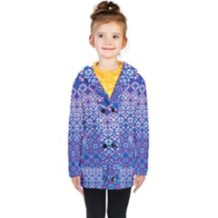 Digital Art Art Artwork Abstract Kids  Double Breasted Button Coat