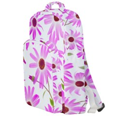 Pink Purple Daisies Design Flowers Double Compartment Backpack