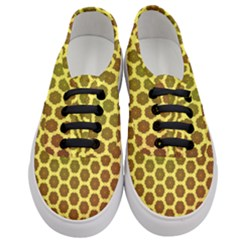 Digital Art Art Artwork Abstract Yellow Women s Classic Low Top Sneakers