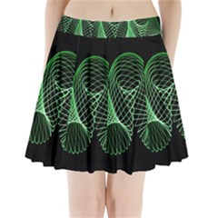 Abstract Desktop Background Green Pleated Mini Skirt