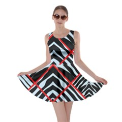 Model Abstract Texture Geometric Skater Dress