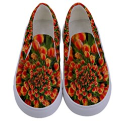 Tulips Arrangement Many Blossom Kids  Canvas Slip Ons