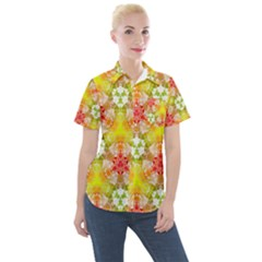 Background Abstract Pattern Texture Women s Short Sleeve Pocket Shirt