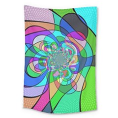 Retro Wave Background Pattern Large Tapestry