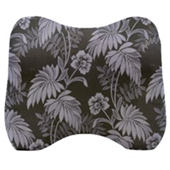 Ornament Flowers Leaf Velour Head Support Cushion