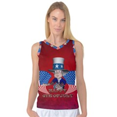 Happy 4th Of July Women s Basketball Tank Top by FantasyWorld7