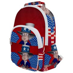 Happy 4th Of July Rounded Multi Pocket Backpack
