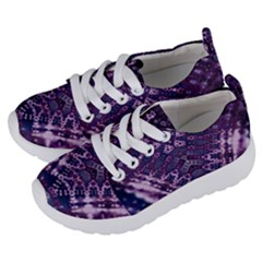 Purple Fractal Lace V Shape Kids  Lightweight Sports Shoes by KirstenStar