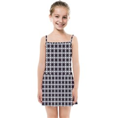 Purple Pattern Texture Kids  Summer Sun Dress