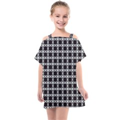 Purple Pattern Texture Kids  One Piece Chiffon Dress by HermanTelo