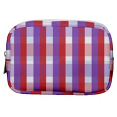 Gingham Pattern Line Make Up Pouch (small)