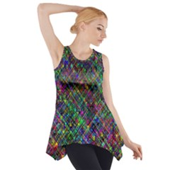 Pattern Artistically Side Drop Tank Tunic