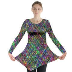 Pattern Artistically Long Sleeve Tunic  by HermanTelo
