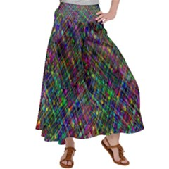 Pattern Artistically Satin Palazzo Pants by HermanTelo