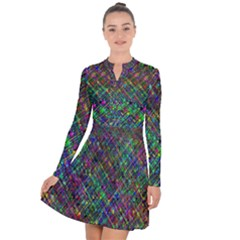 Pattern Artistically Long Sleeve Panel Dress by HermanTelo
