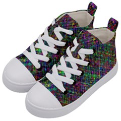 Pattern Artistically Kids  Mid-top Canvas Sneakers by HermanTelo