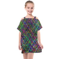 Pattern Artistically Kids  One Piece Chiffon Dress